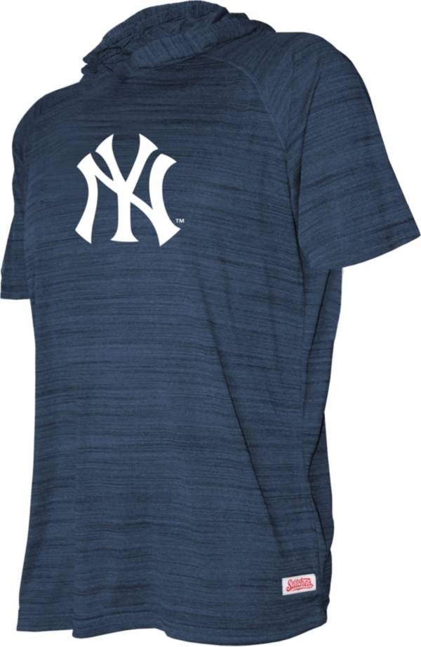 Stitches Youth New York Yankees Blue Short Sleeve Pullover Hoodie product image