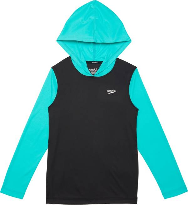 Speedo Boy's Hooded Long Sleeve Swim Shirt product image