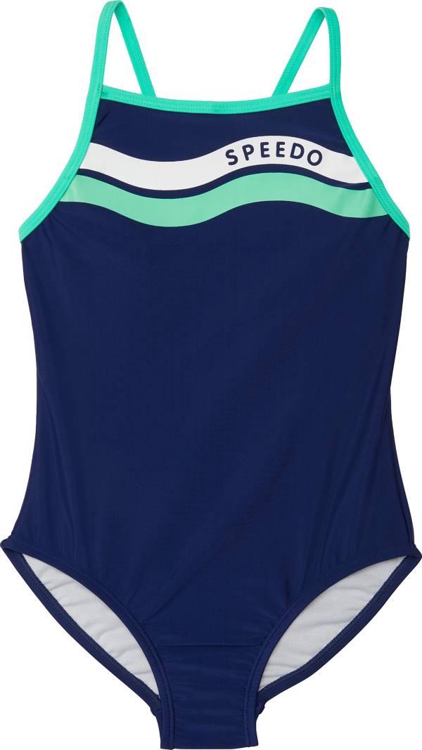Speedo Girl's Graphic Logo One Piece Swimsuit product image