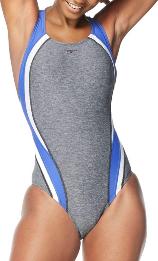 Speedo Women's Heather Quantum Fusion Splice One Piece Swimsuit product image