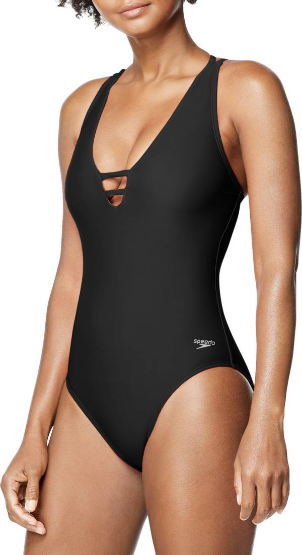 Speedo Women's Strappy V-Neck One Piece Swimsuit product image