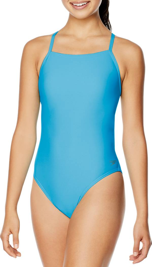 Speedo Women's Solid T-Back One Piece Swimsuit product image
