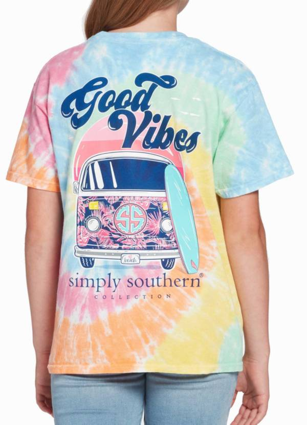 Simply Southern Girl's Good Vibes Short Sleeve Graphic T-shirt product image