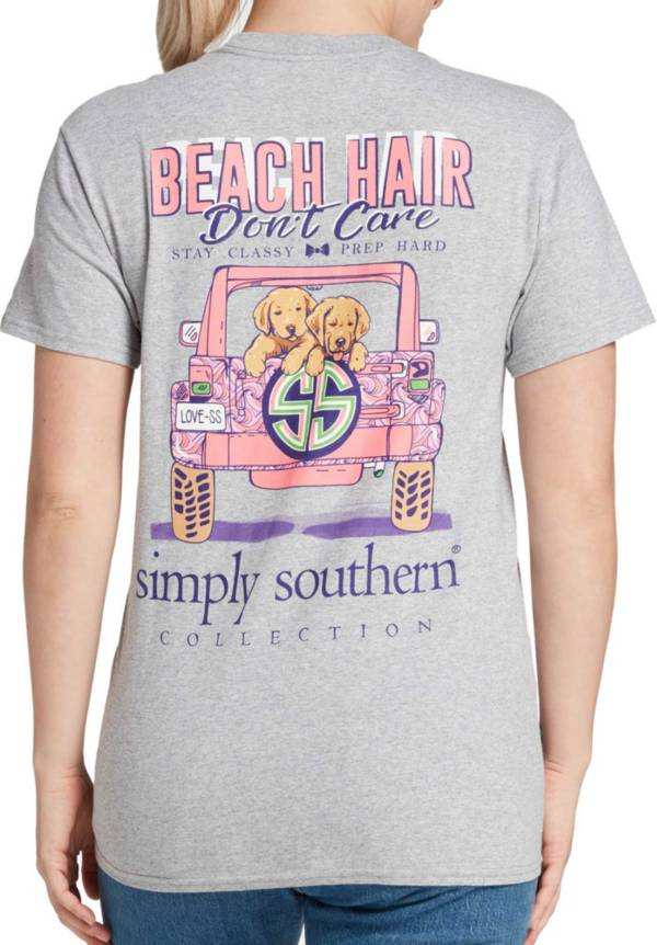 Simply Southern Women's Beach Hair Short Sleeve Graphic T-shirt product image