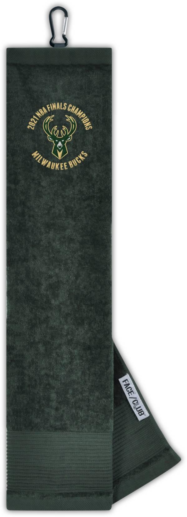 Team Effort Milwaukee Bucks Champions Tri-Fold Embroidered Towel product image
