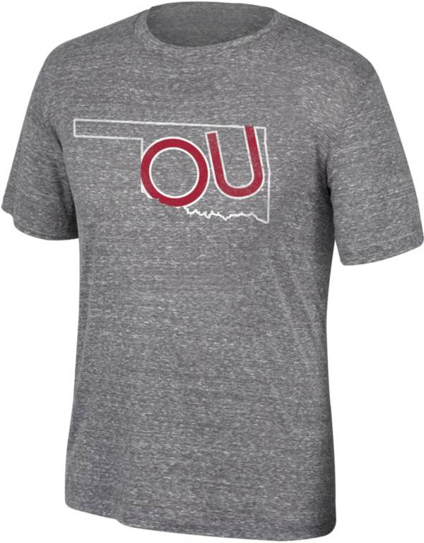 Top of the World Men's Oklahoma Sooners Heathered Grey State T-Shirt product image