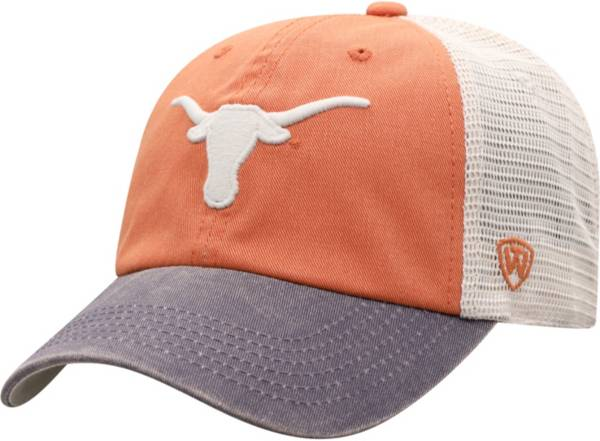 Top of the World Men's Texas Longhorns Burnt Orange/White Off Road Adjustable Hat product image