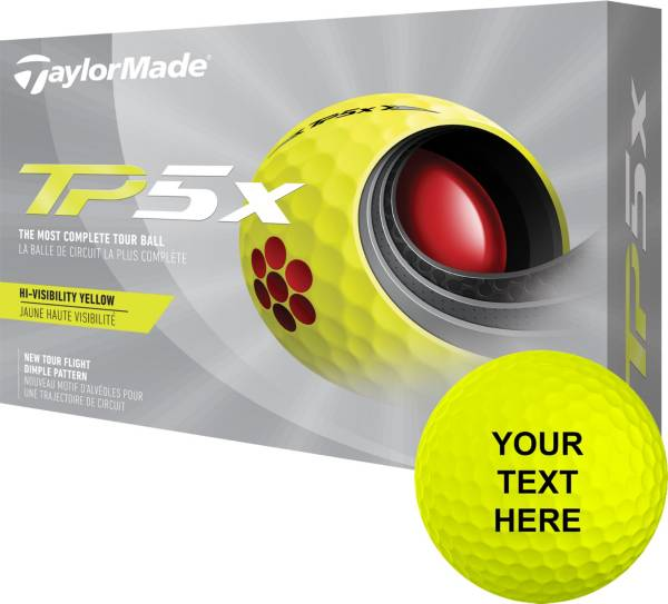 TaylorMade 2021 TP5x Yellow Personalized Golf Balls product image