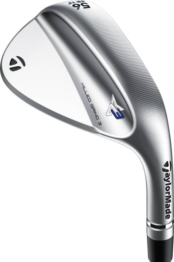 TaylorMade Milled Grind 3 Satin Raw Chrome Custom Wedge product image