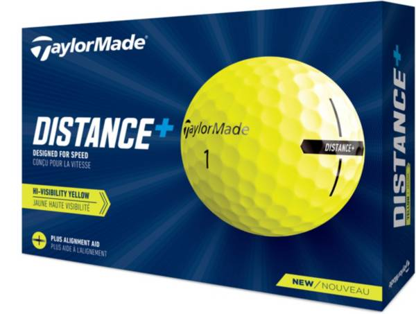 TaylorMade Distance+ Yellow Golf Ball product image