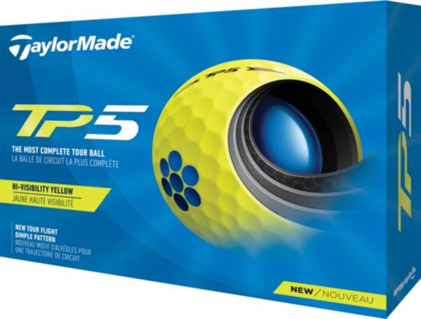 TaylorMade 2021 TP5 Yellow Golf Balls product image