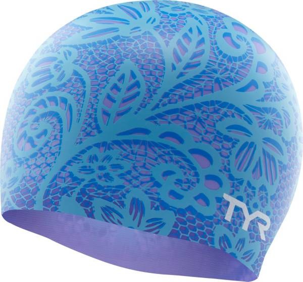 TYR Adult Silicone Lace Swim Cap product image