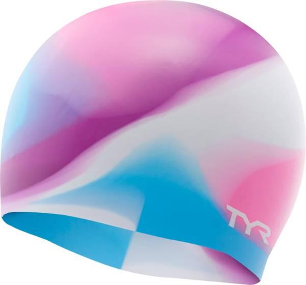 TYR Junior Tie Dye Silicone Swim Cap product image