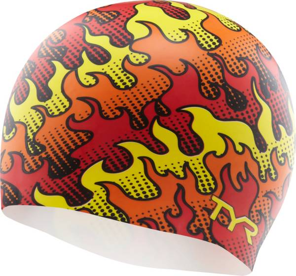 TYR Adult Silicone Flame Swim Cap product image