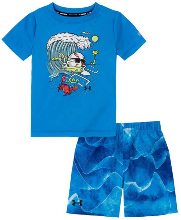 Under Armour Boys' Toddler Sound Waves Swimsuit Set product image