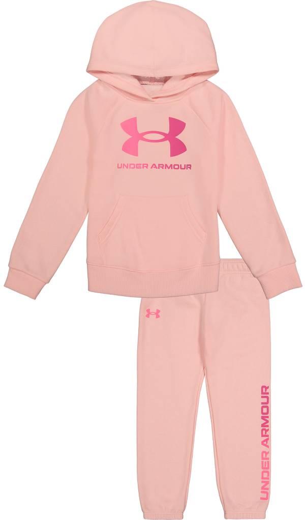 Under Armour Little Girls' Big Logo Hoodie and Pants Fleece Set product image