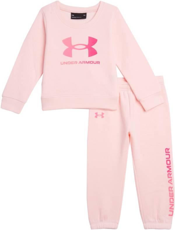 Under Armour Infant Girls' Big Logo Crewneck Sweatshirt and Pants Fleece Set product image