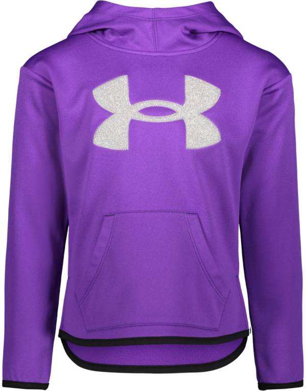 Under Armour Little Girls' Big Logo Glitter Pullover Hoodie product image