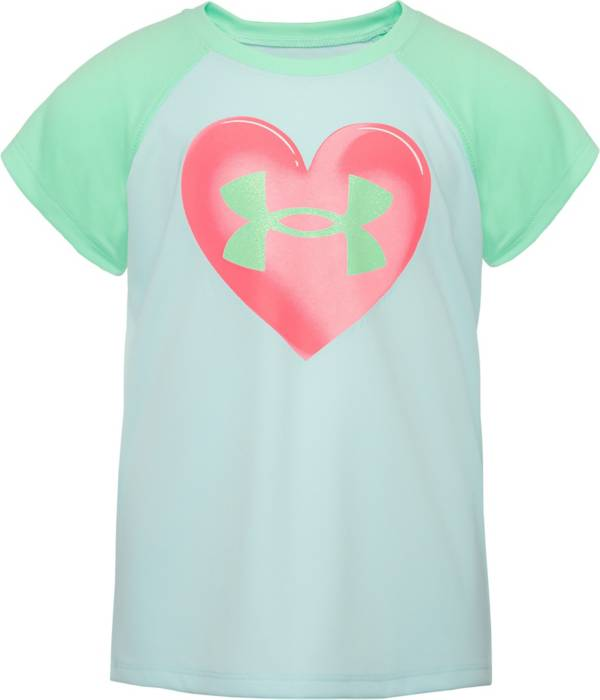 Under Armour Little Girls' Airbrush Heart Graphic T-Shirt product image