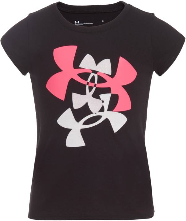 Under Armour Little Girls' Multi Logo Graphic T-Shirt product image