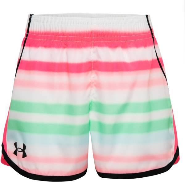Under Armour Little Girls' Airbrush Stripe Two-Tone Fly-By Shorts product image
