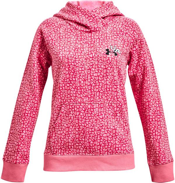 Under Armour Girls' Rival Fleece Print Hoodie product image