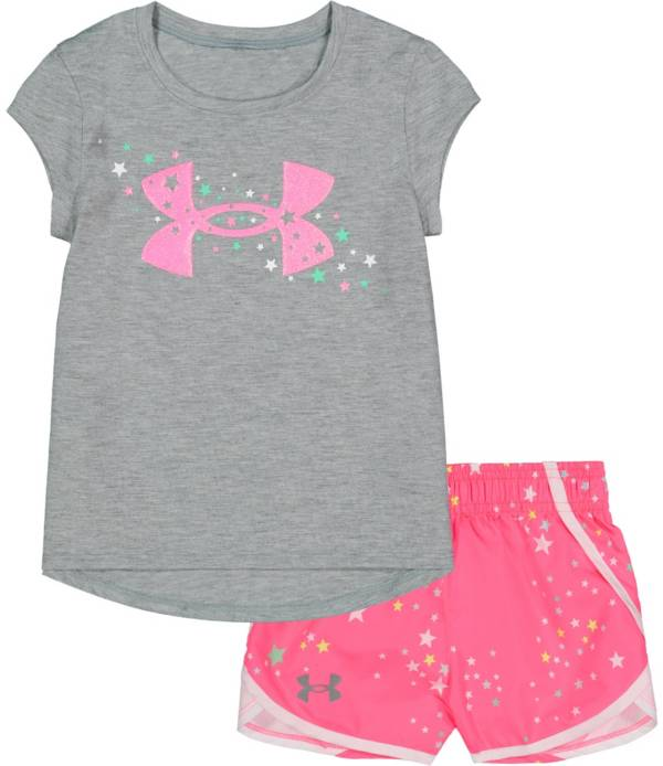Under Armour Little Girls' Shooting Star T-Shirt and Shorts Set product image