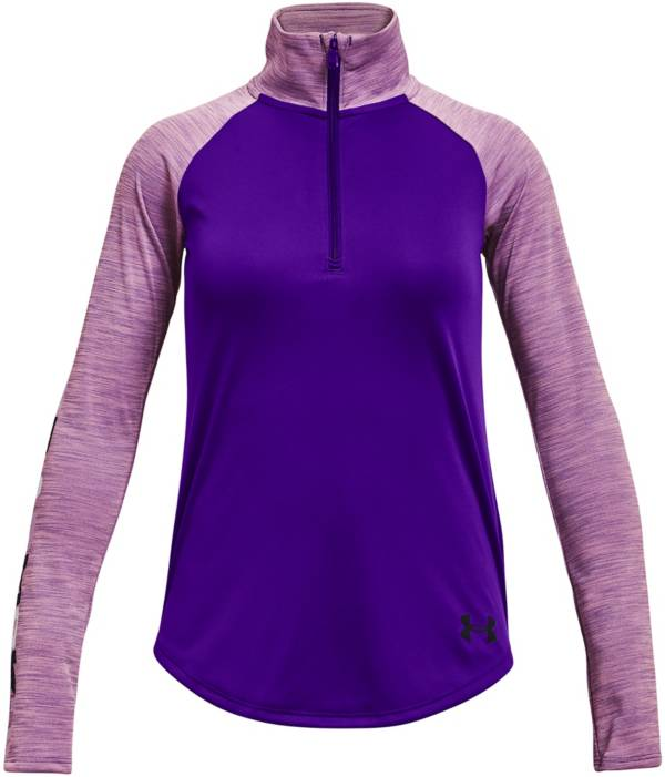 Under Armour Girls' UA Tech Graphic ½ Zip Top product image