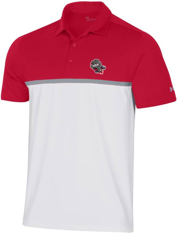Under Armour Men's Rocket City Trash Pandas Red Gameday Polo product image