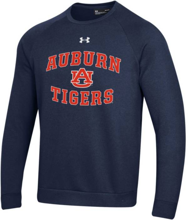 Under Armour Men's Auburn Tigers Blue All Day Fleece Crew Sweatshirt product image