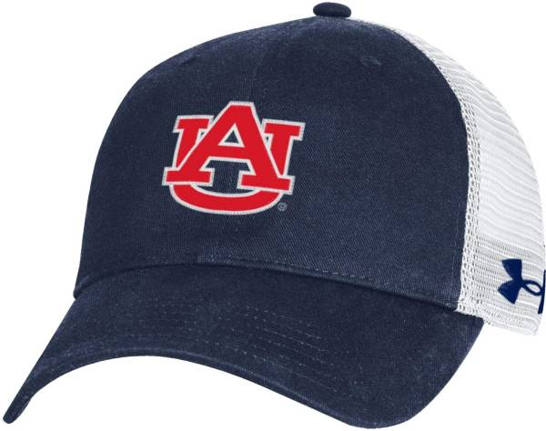 Under Armour Men's Auburn Tigers Blue Washed Adjustable Trucker Hat product image