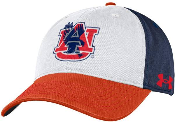 Under Armour Men's Auburn Tigers White Cotton Twill Adjustable Hat product image