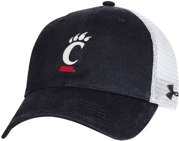 Under Armour Men's Cincinnati Bearcats Black Cotton Adjustable Trucker Hat product image