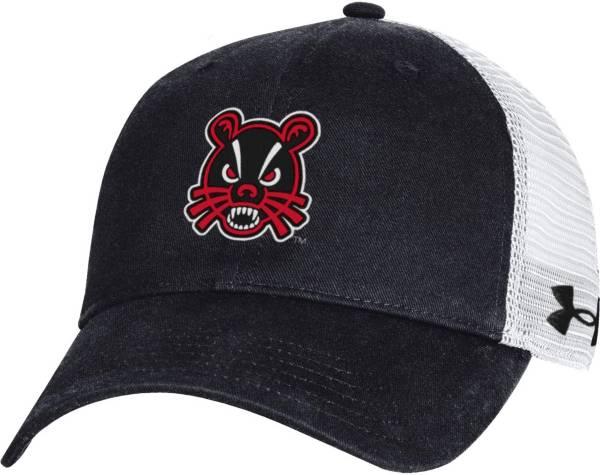 Under Armour Men's Cincinnati Bearcats Black Washed Adjustable Trucker Hat product image