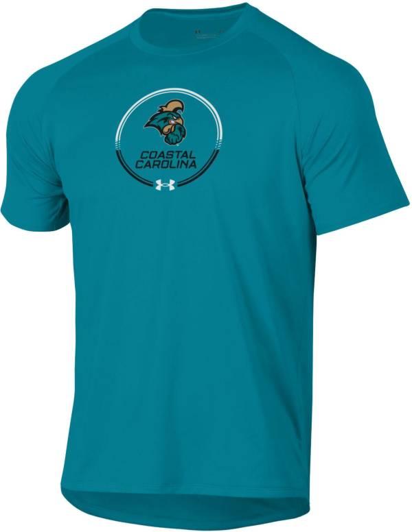 Under Armour Men's Coastal Carolina Chanticleers Teal Tech Performance T-Shirt product image