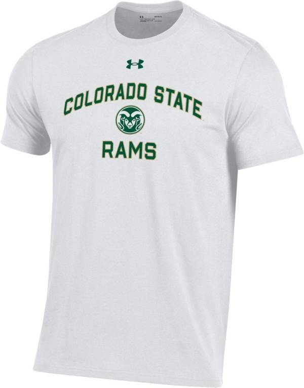 Under Armour Men's Colorado State Rams White Performance Cotton T-Shirt product image