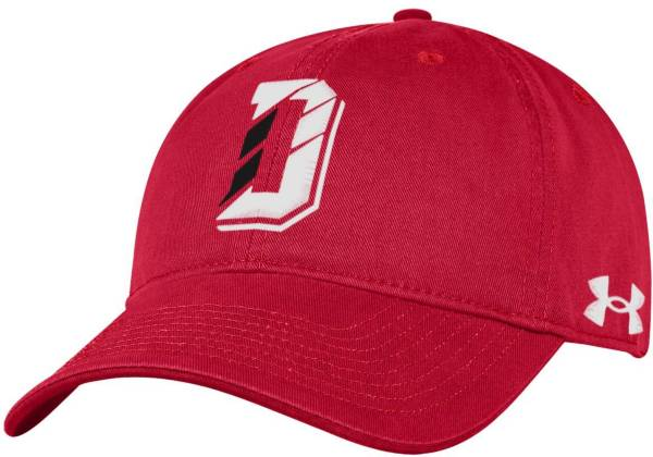 Under Armour Men's Davidson Wildcats Red Cotton Twill Adjustable Hat product image