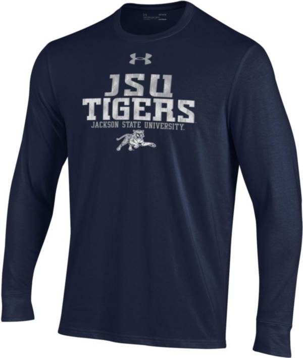 Under Armour Men's Jackson State Tigers Navy Performance Cotton Long Sleeve T-Shirt product image
