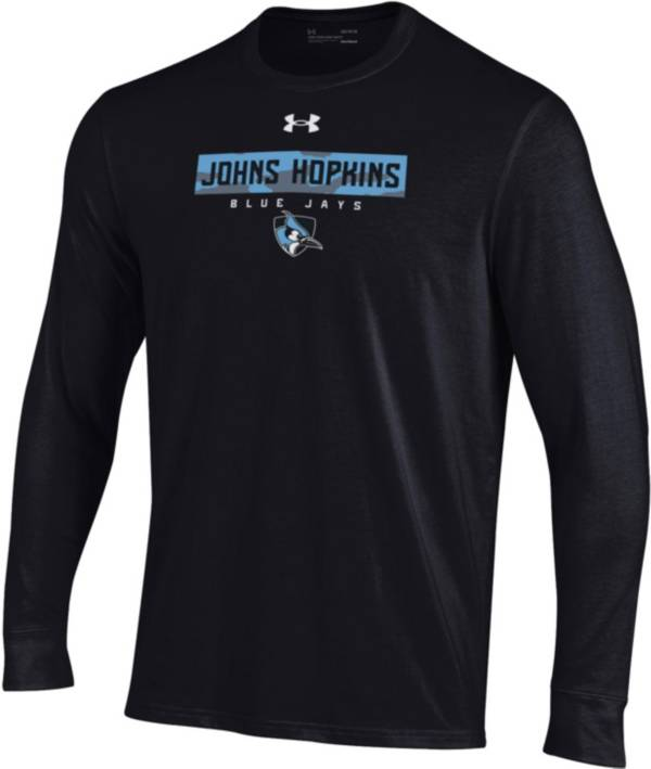Under Armour Men's Johns Hopkins Blue Jays Black Performance Cotton Long Sleeve T-Shirt product image