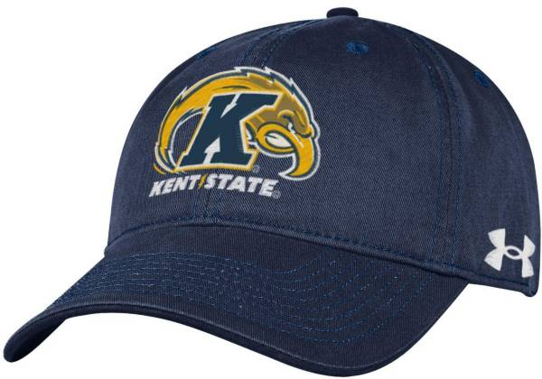 Under Armour Men's Kent State Golden Flashes Navy Blue Cotton Twill Adjustable Hat product image