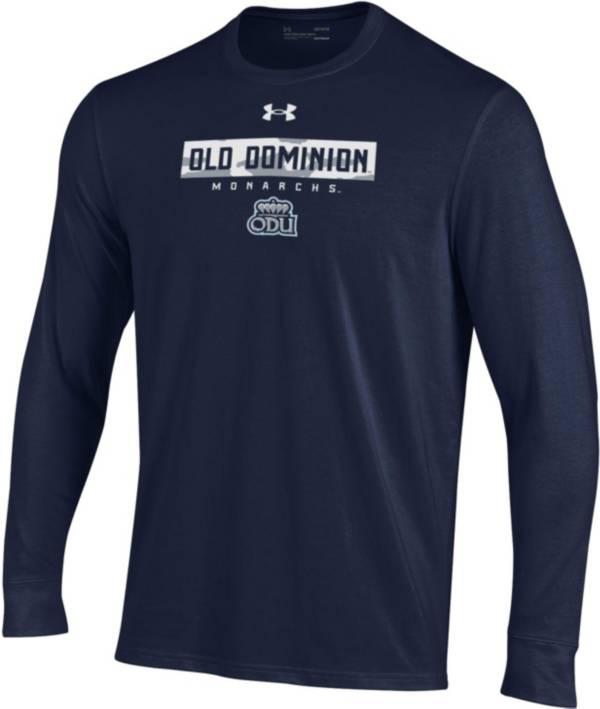 Under Armour Men's Old Dominion Monarchs Blue Performance Cotton Long Sleeve T-Shirt product image