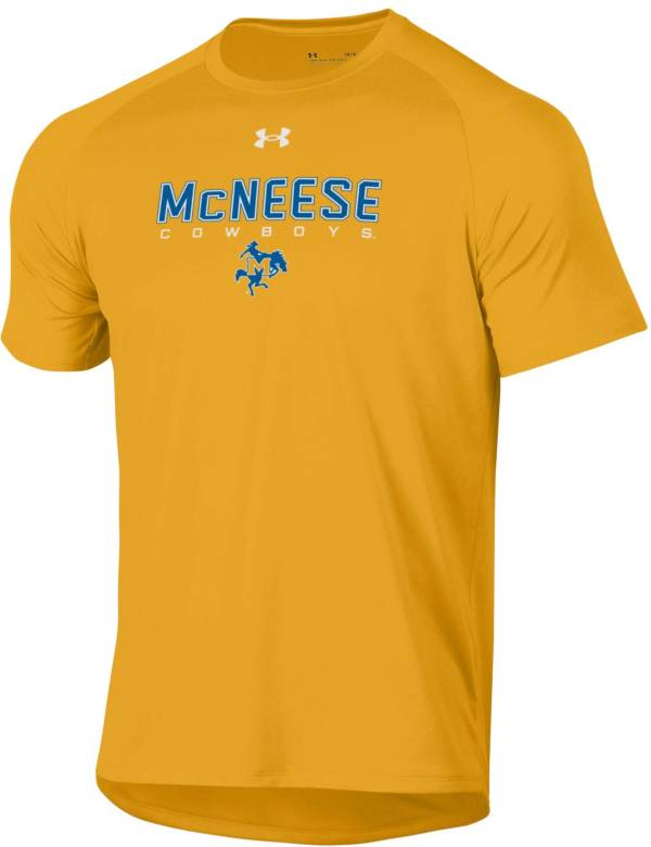 Under Armour Men's McNeese State Cowboys Gold Tech Performance T-Shirt product image