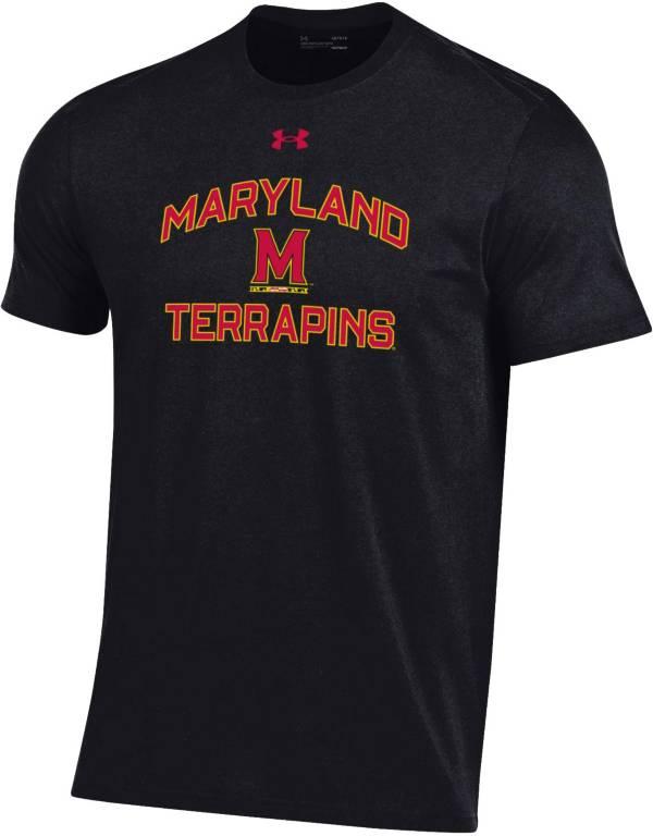 Under Armour Men's Maryland Terrapins Black Performance Cotton T-Shirt product image