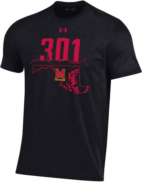 Under Armour Men's Maryland Terrapins Black '301' Area Code Performance Cotton T-Shirt product image