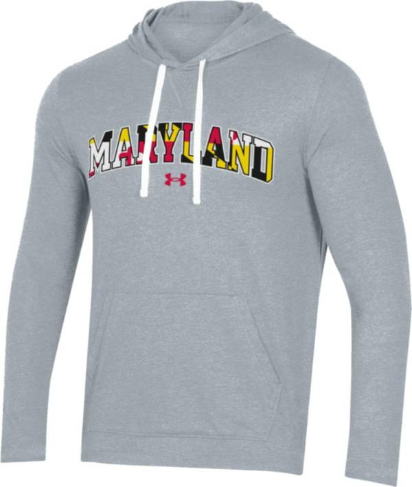 Under Armour Men's Maryland Terrapins Grey 'Maryland Pride' Long Sleeve Hood T-Shirt product image