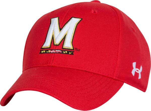 Under Armour Men's Maryland Terrapins Red Adjustable Hat product image
