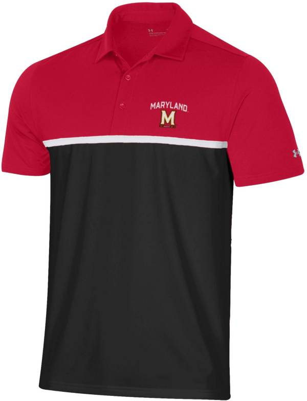 Under Armour Men's Maryland Terrapins Red Gameday Polo product image