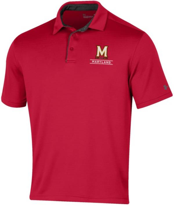 Under Armour Men's Maryland Terrapins Red Tech Polo product image
