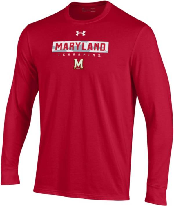 Under Armour Men's Maryland Terrapins Red Performance Cotton Long Sleeve T-Shirt product image