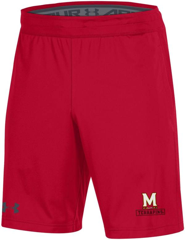 Under Armour Men's Maryland Terrapins Red Raid Performance Shorts product image